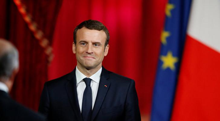 الرئيس الفرنسي ايمانويل ماكرون - ارشيفية