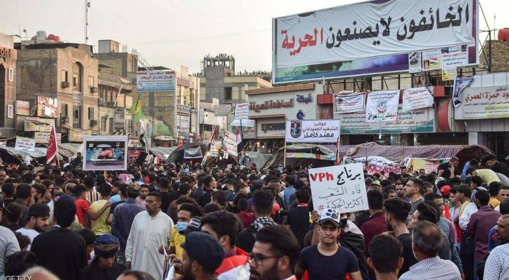 المظاهرات في العراق لم تتوقف منذ أكثر من شهر.