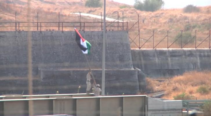 القوات المسلحة ترفع علم الأردن على الباقورة المستعادة