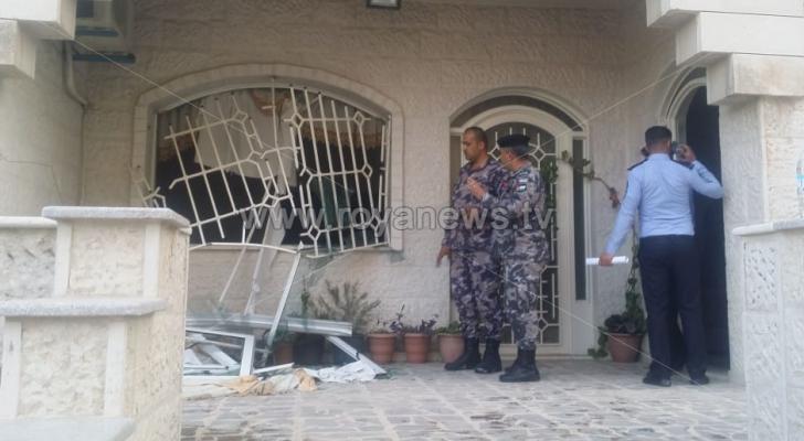 الدفاع المدني: إصابتان بحريق عدادات كهرباء داخل عمارة سكنية في اربد - فيديو وصور