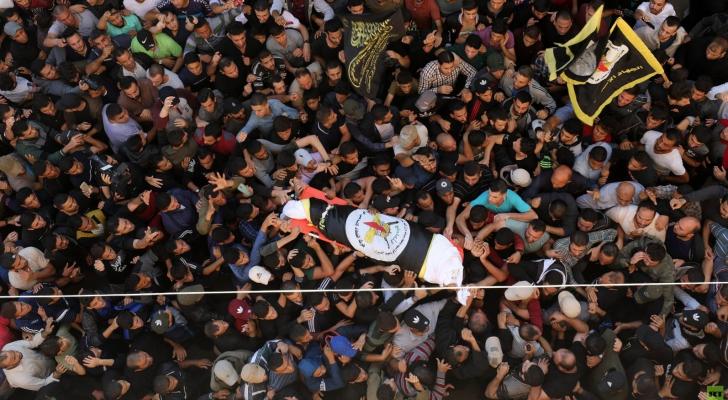 الفلسطينيون يشيعون جثمان الشهيد بهاء ابو العطا في غزة
