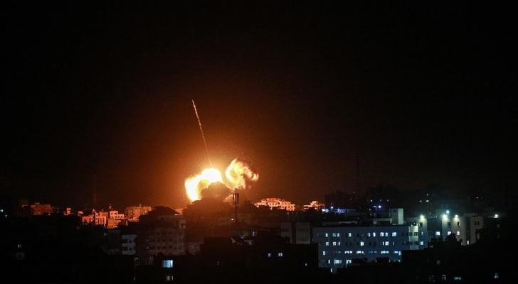 قصف غزة - ارشيفية
