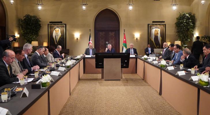 الملك يلتقي رئيس وأعضاء اللجنة التوجيهية لمخطط عجلون التنموي