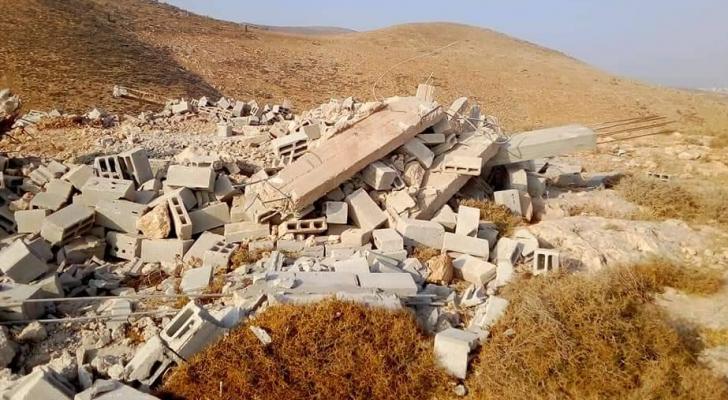 صورة المنزل بعد هدمه
