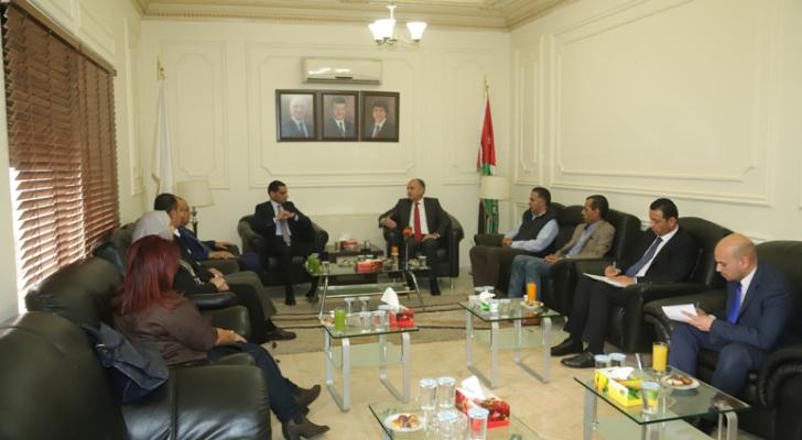زيارة وزير الدولة لشؤون الإعلام لمقر نقابة الصحفيين