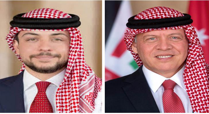 جلالة الملك عبدالله الثاني وسمو ولي العهد الأمير الحسين