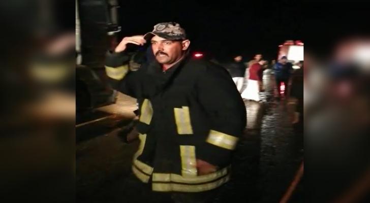 الدفاع المدني ينشر مقطع فيديو من عمليات الإنقاذ في المفرق