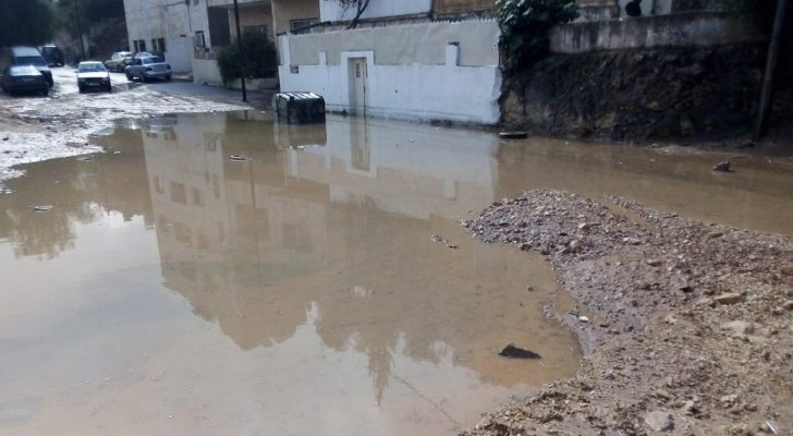شبكة تصريف الأمطار  لم تقدر على استيعاب كميات المياه
