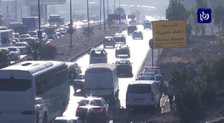 الأشغال تؤجل تنفيذ تحويلات على اتوتستراد عمان-الزرقاء