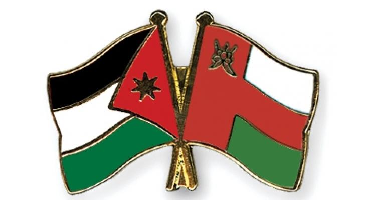 علم الأردن وسلطنة عمان