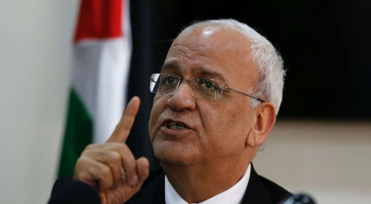 امين سر منظمة التحرير الفلسطينية صائب عريقات