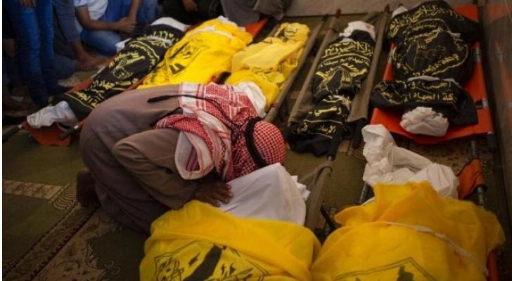 9 شهداء من عائلة السواركة غالبيتهم من النساء والاطفال