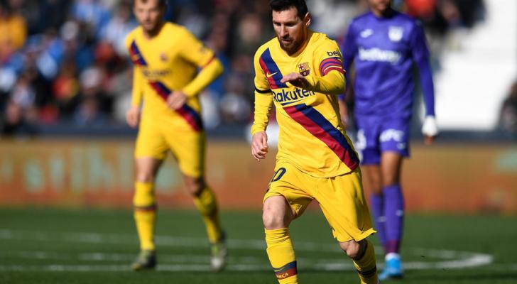 الأرجنتيني ليونيل ميسي خلال مباراة برشلونة وليغانيسكأس