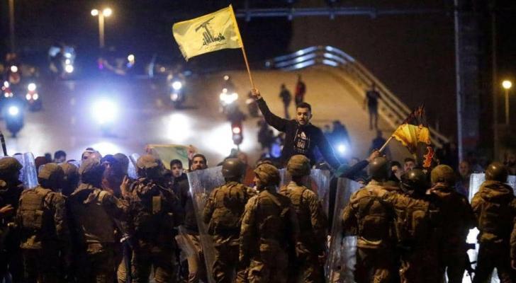 الجيش يتدخل لمنع مناصري حزب الله وأمل من اختراق التظاهرات