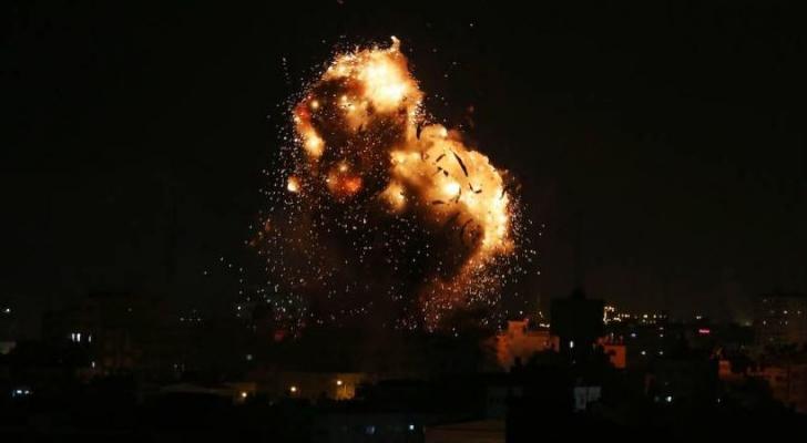 الاحتلال يقصف قطاع غزة