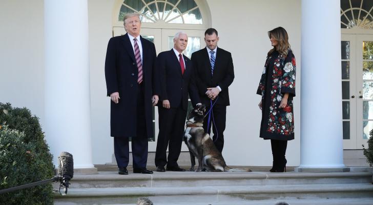 استقبال الكلب كونان في البيت الأبيض