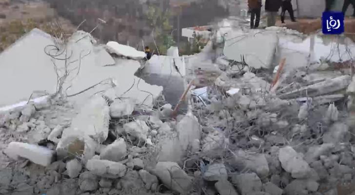 كيان الاحتلال يهدم منازل الفلسطينيين بذرائع مختلفة