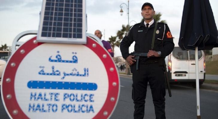 عنصر من الشرطة المغربية