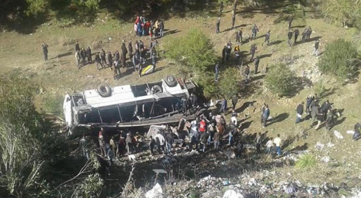 وفاة 22 شخصا بحادث حافلة في تونس
