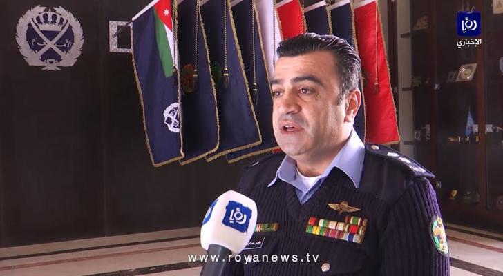 الناطق الإعلامي باسم مديرية الأمن العام، المقدم عامر السرطاوي