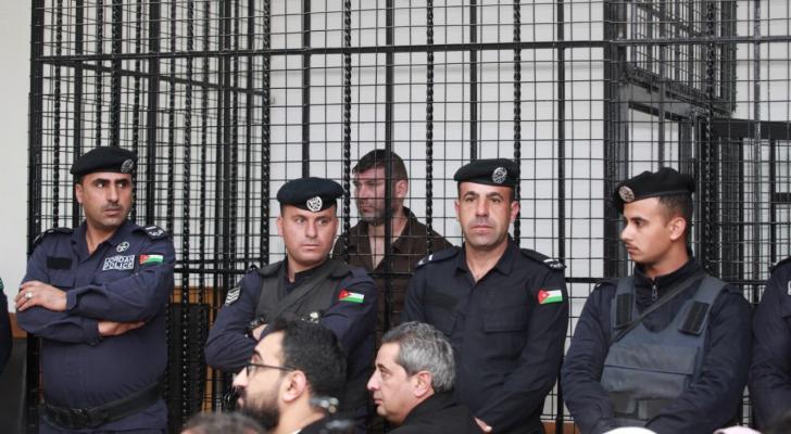 من محكمة امن الدولة خلال وقائع محاكمة المستوطن الذي تسلل الى الأردن