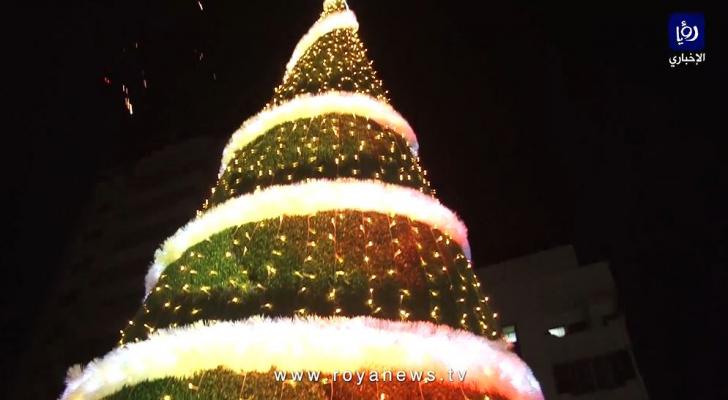 شجرة عيد الميلاد في قطاع غزة
