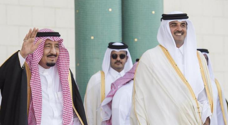 أمير قطر وخادم الحرمين - ارشيفية