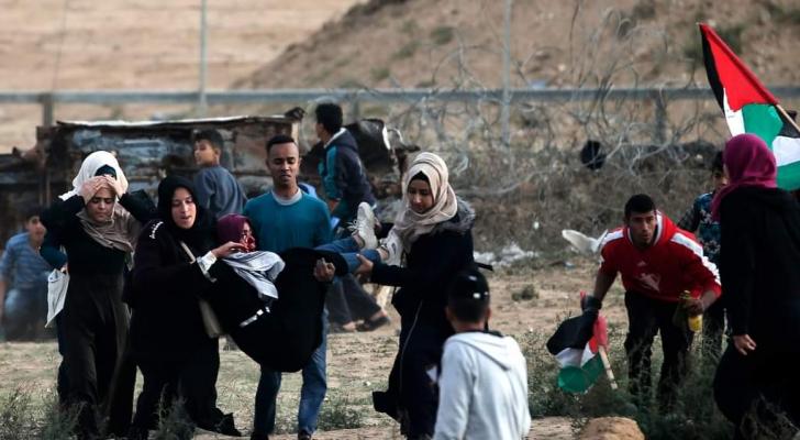 إصابات بنيران الاحتلال على حدود القطاع