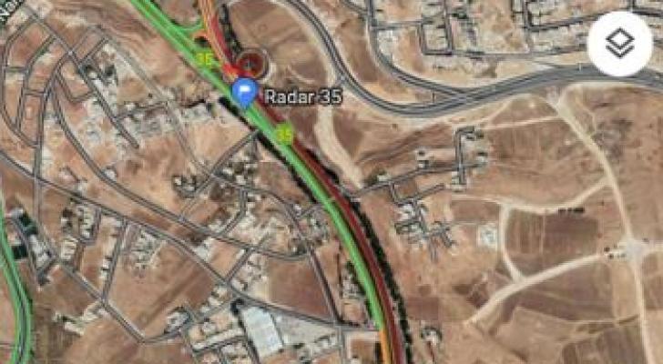 ازمة سير من ميدان الأمير حسين باتجاه طريق المطار  في عمان