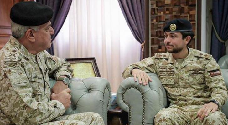 من زيارة ولي العهد للجيش العربي
