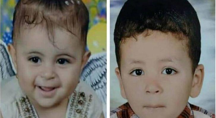 صورة للاطفال كما تداولتها وسائل اعلام مصرية