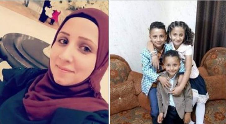 المرحومة روان أبو هواش وأطفالها