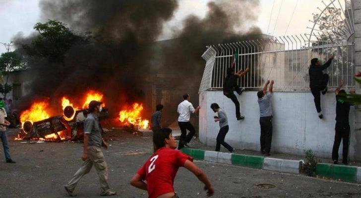 من المظاهرات في ايران