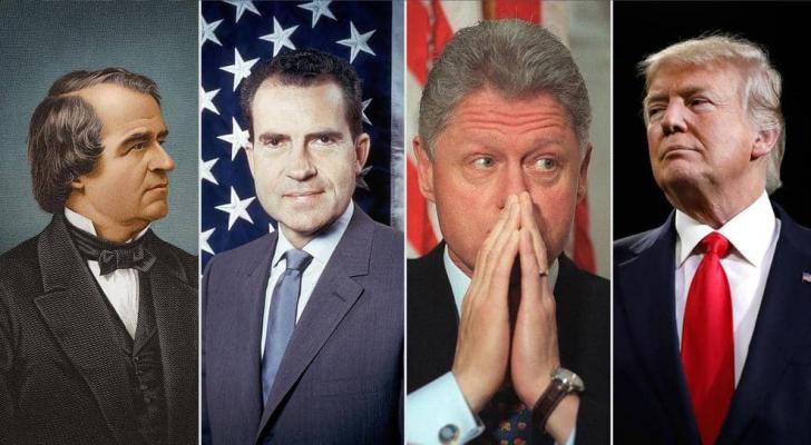 ترامب، كلينتون، نيكسون وجونسون