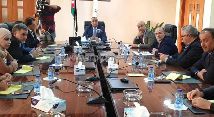 الصورة من المؤتمر الصحفي