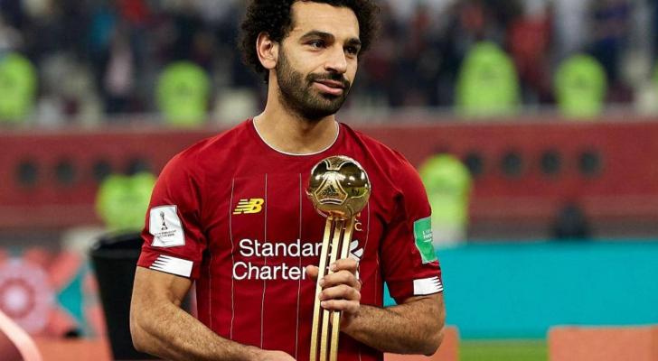 صلاح حصل على جائزة الكرة الذهبية لأديداس