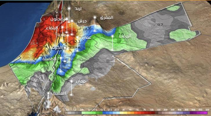 خريطة توضيحية من طقس العرب