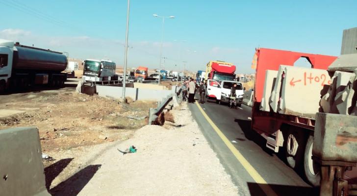 الحادث على الطريق الصحراوي