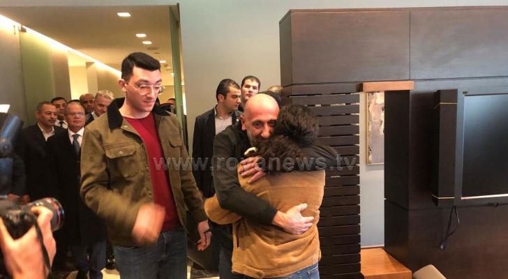 لحظة وصول المواطن الأردني