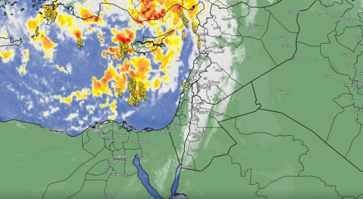 طقس العرب: مقدمة المنخفض الجوي بدأت بالتأثير وثلوج خفيفة في المرتفعات الجبلية الجنوبية العالية