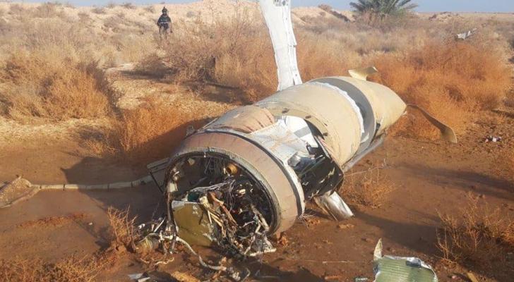 صورة لأحد الصواريخ التي سقطت في العراق