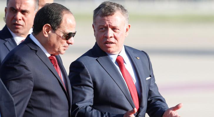 الملك عبدالله الثاني والرئيس المصري- ارشيفية