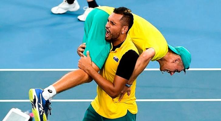 أستراليا تتفوق على بريطانيا في كأس اتحاد المحترفين للتنس *