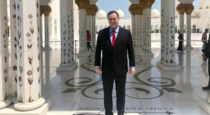 وزير خارجية الاحتلال يسرائيل كاتس خلال زيارته أبو ظبي