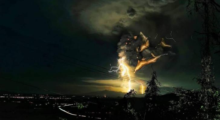 ثوران بركان في الفليبين