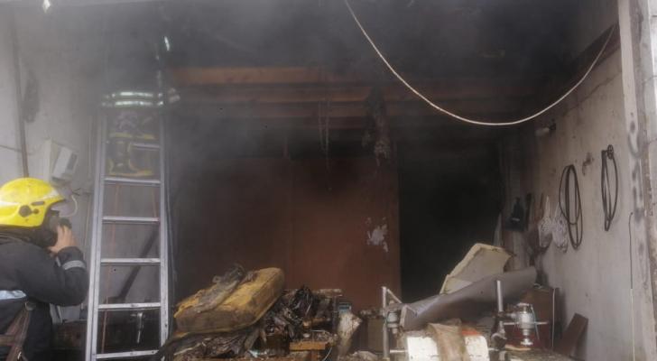 صورة من موقع الحريق