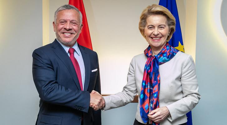 الملك مع رئيسة المفوضية الأوروبية
