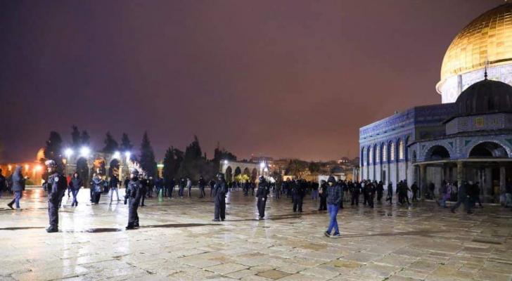الأردن يدين بشدة اعتداء الاحتلال على المصلين في المسجد الأقصى