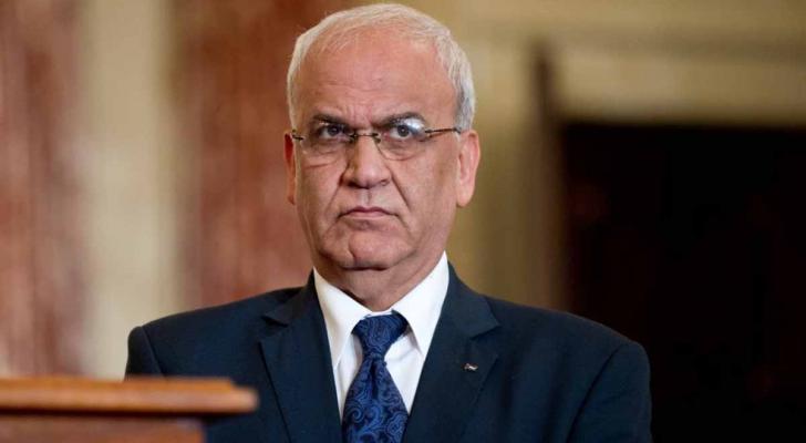 أمين سر اللجنة التنفيذية لمنظمة التحرير الفسطينية صائب عريقات