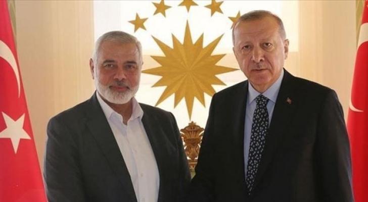 هنية يلتقي أردوغان في أنقرة